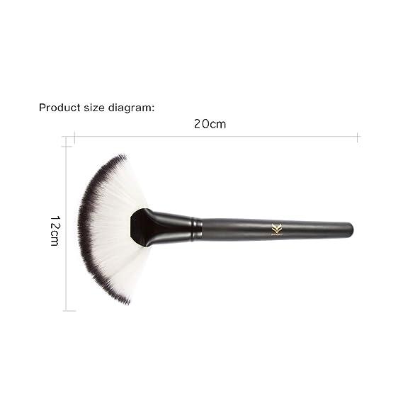 magideal 4pcs makeup brush set foundation powder blush kabuki blending  brushes kit: amazon in: beauty