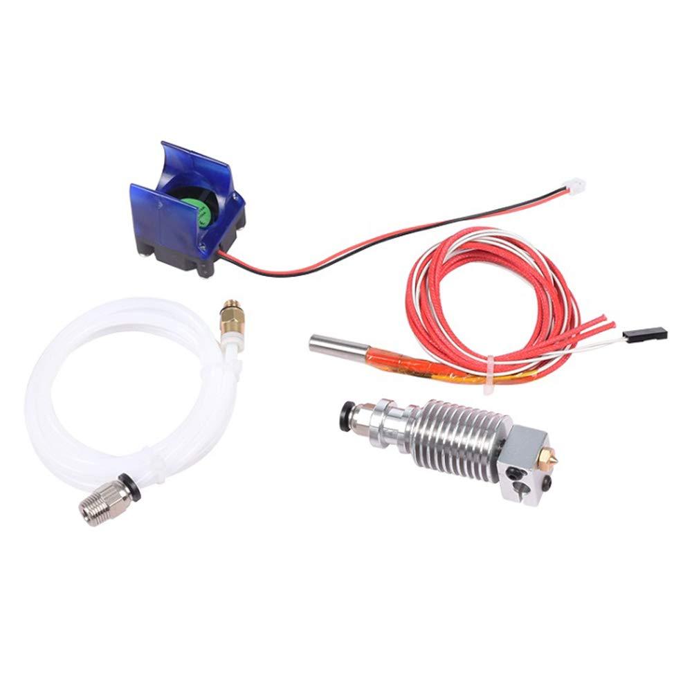 KKmoon Boquilla Pulverizadora de 1.75/0.4 mm Accesorios de Impresora 3D de Extrusora de Metal para Impresora 3D con Ventilador para Control Remoto de 1.75/0.4 mm Accesorios de Impresora 3D