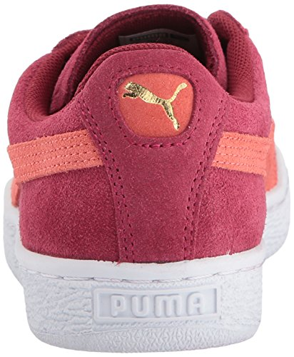 para M UU de gamuza de rojo de WN Zapatillas vivo Coral Cameo Puma Marrón deporte tibetano B clásicas mujeres de Blanco EE 16qFwYgx