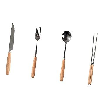 Sharplace 4 Piezas Cuchara Comer Tenedor Cocina Cuchillo ...