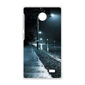 Raining Night White Phone Case for Nokia Lumia X wangjiang maoyi