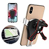 Car Phone Mount Air Vent Car Cell Phone Holder 360° Rotation Bracket Cradle for iPhone XS Max, XR, X, 8 7 6S, Samsung Galaxy S10 S9 S8, Note 9, Pixel 3, LG V30, Google Pixel 2/Nexus,Huawei P30 and Other Devices 4.7-6.5 inch