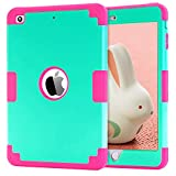 ipad 2 air case girls cool - iPad mini 2 Case,iPad mini Case,iPad mini 3 Case,iPad mini Retina Case,BENTOBEN Anti-slip Shock-Absorption Silicone PC High Impact Resistant Hybrid Three Layer Protective Case Cover Mint Green&Rose