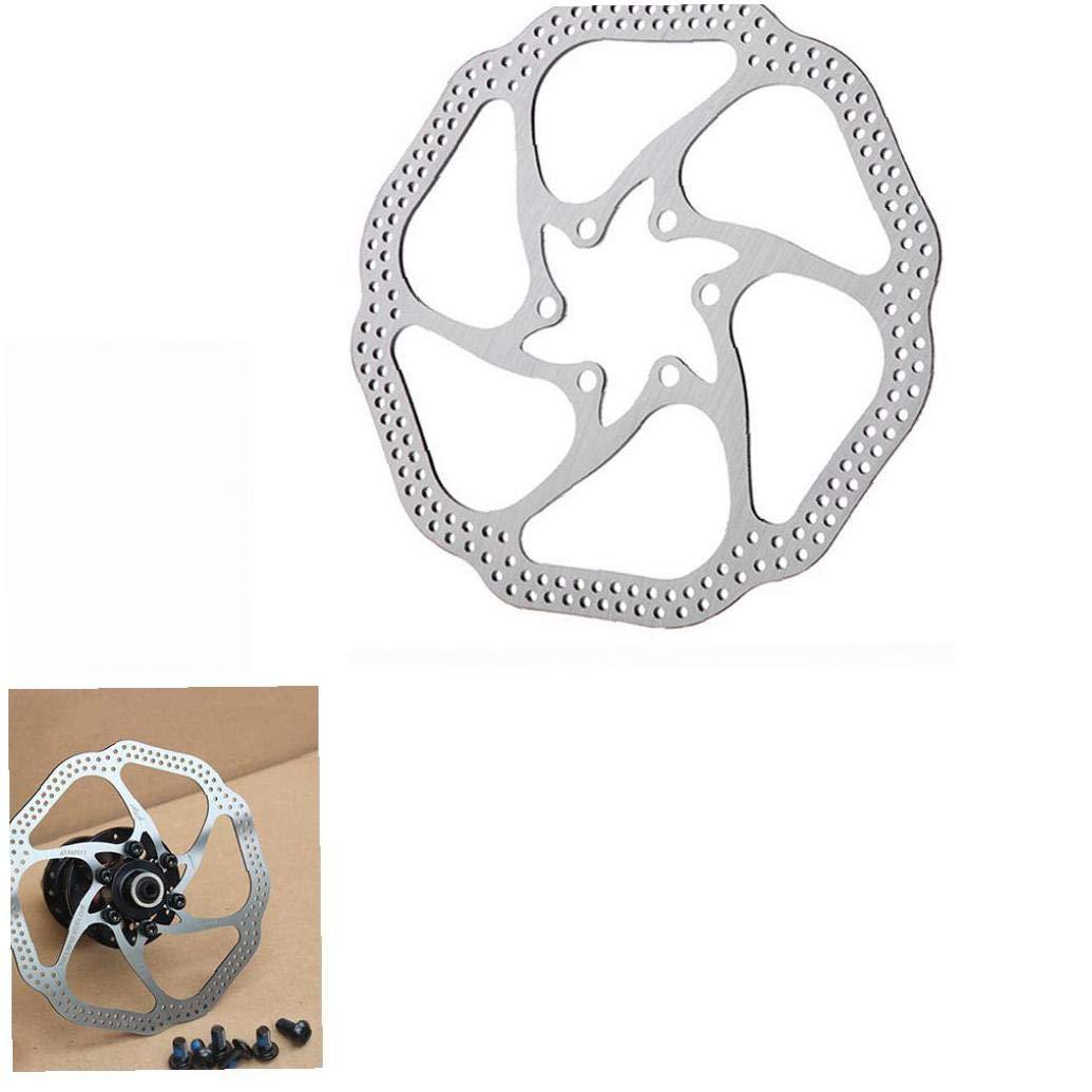 Ruijanjy Freno De Disco De 160 Mm Rotor con 6 Tornillos De Acero Inoxidable De Bicicletas Rotores Ajuste para El Camino De Bicicletas De Monta/ña MTB BMX