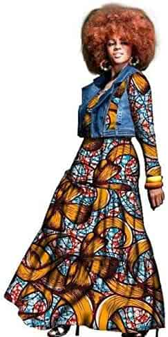 785c8d1cd92 Traditional African Dress for Women 2-Pieces Set Clothing Dashiki Wax Print  Plus