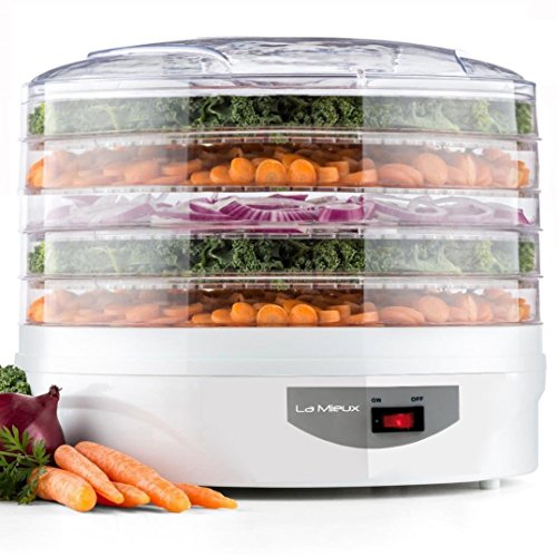 Kitchen Electric Pro Food Dehydrator, Snackmaster, Food Preserver, (White)