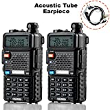 Ansoko Walkie Talkies Dual Band VHF 136-174Mhz & UHF 400-520Mhz Amateur 2 Way Radios (2 Pack)