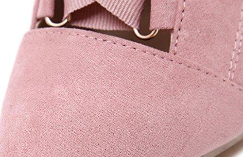 Moda 2017 nuovi pattini della molla della cinghia delle donne YCMDM'S alti talloni singoli , pink , 39