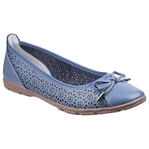 Fleet & Foster Womens/Ladies Lagune Leather Flat Ballerina Shoes Blue is6wDdO