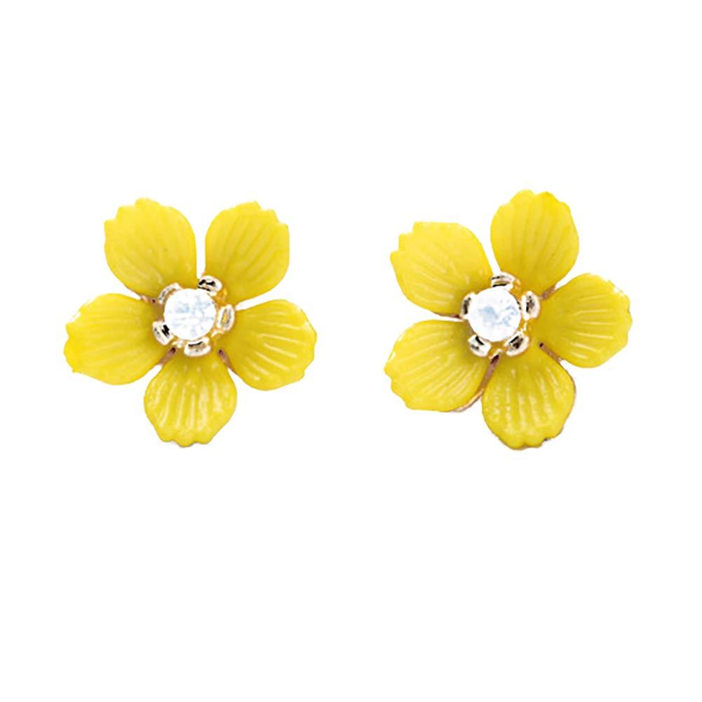 Amazon Topdo 1 Pair Women Girls Fashion Mini Yellow Flower