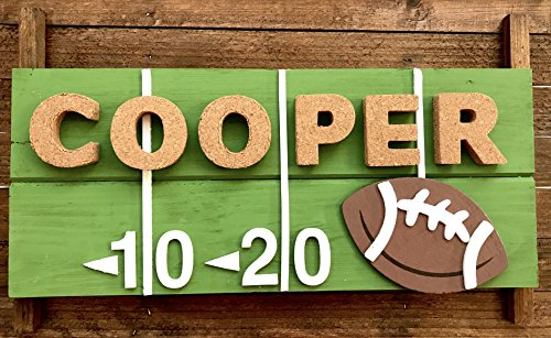 Super Textured Foam Balls (Sports Theme (Football, Soccer, Baseball, Basketball) Personalized Kids Door Sign; Custom Name Plate)