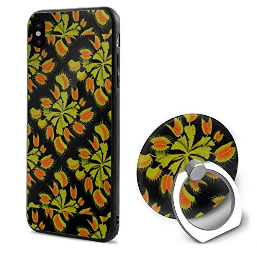 Venus Fly Trap TPU Case Ring Bracket Compatible iPhone X Cover 5.8 Inch