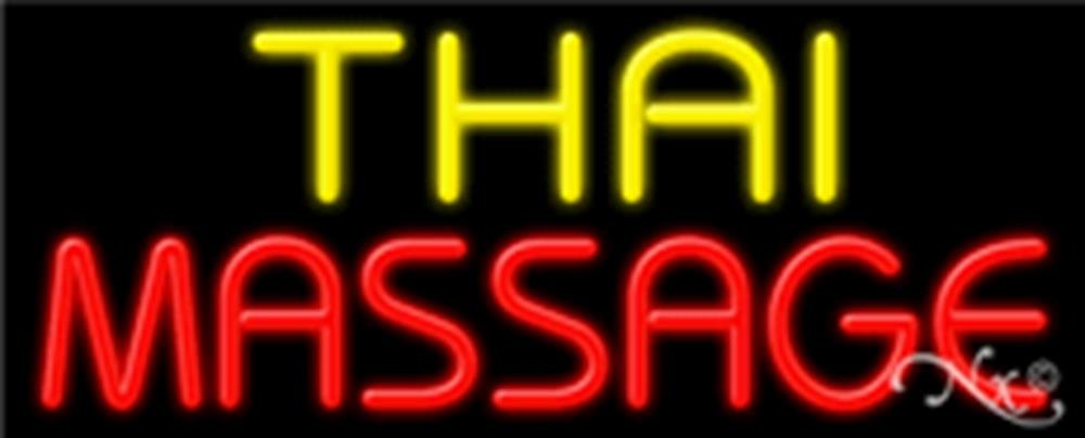 13x32x3 inches Thai Massage NEON Advertising Window Sign by Light Master