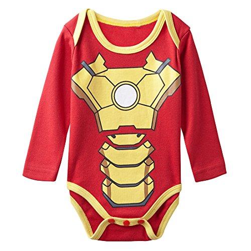 A&J Design Baby Boys' Ironman Long Sleeve Bodysuit 18-24 Months