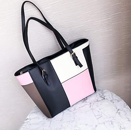 LIGYM La Mode-fourre-Tout en Cuir d'unité Centrale, Sacs à bandoulière, Sacoche, Sacs à bandoulière croisés de glissière (unité Centrale) 30/12.5 / 28cm Pink