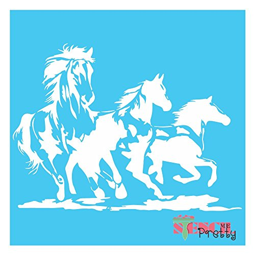 "Wild Mustang Horse Stencil - DIY Bronco -Massive (30"" x 21"")"