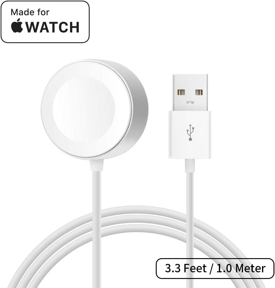 [ Apple MFi Certified ] Apple Watch Charger, MPIO iWatch Magnetic Charging Cable for iWatch 38mm 42mm, Apple Watch Series 1/2/3/4 (3.3 Feet/1.0 Meter)