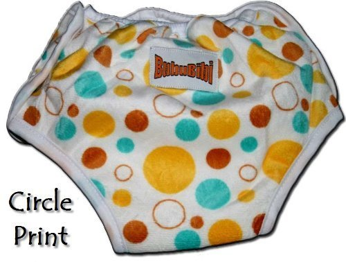 ADJUSTABLE Potty Training Pants/ Trainers/ Resuable & Washable Bamboo Minky One Size by BubuBibi - BUBBLES by BubuBibi   B00CGOLLSI