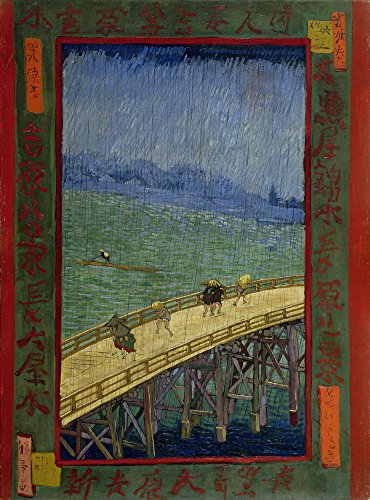 Vincent Van Gogh Giclee Canvas Print Paintings Poster Reproduction  Brug In De Regen Naar Hiroshige