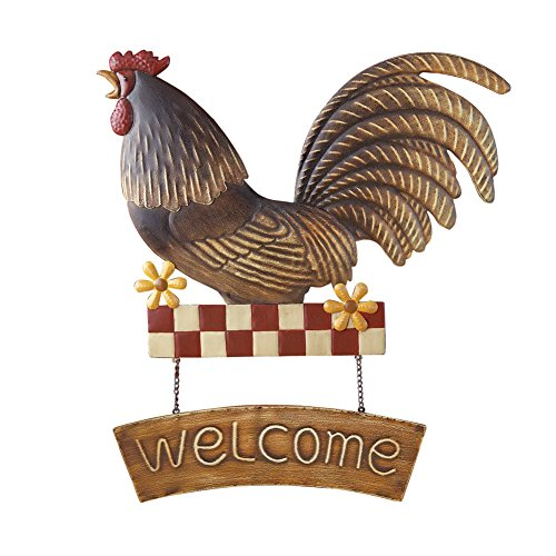 Country Rooster Welcome Sign Wall Art - Barnyard Wall Art Shopping Results