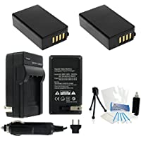 EN-EL20 / EN-EL20a Battery 2-Pack Bundle with Rapid Travel Charger and UltraPro Accessory Kit for Select Nikon Cameras Including Nikon 1 J1, 1 J2, 1 J3, 1 S1, and DL24-500