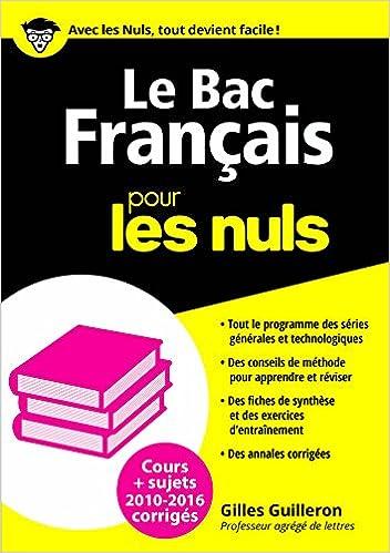 Le Bac Français 2016 pour les Nuls (BAC EN POCHE) (French Edition) Kindle Edition