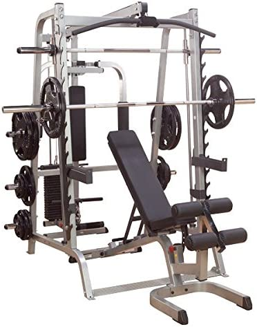 Body Solid Series 7 Smith Gym Package w 400 lb Weight Set GS348QP4, OSR400S