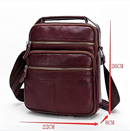 AIAIMEI Genuine Leather Shoulder Bag Business Men Bags Messenger Bag Leather Handbag Crossbody Bag For Men