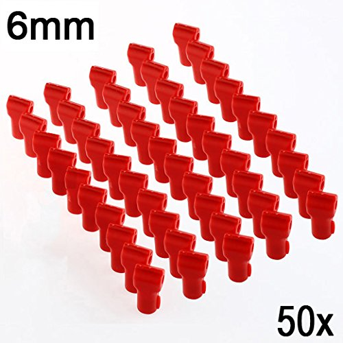 123lockz (50 Pack, 6mm, Red) Anti-Theft Magnetic Security Stop Lock for Pegboard, Slat Wall Peg Hook Retail Shop Display
