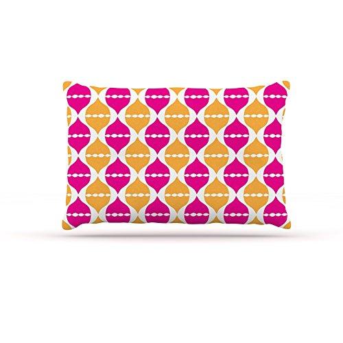 Large 30\ Kess InHouse Apple Kaur Designs Mgoldccan Dreams  Pink orange Dog Bed, 30 by 40-Inch