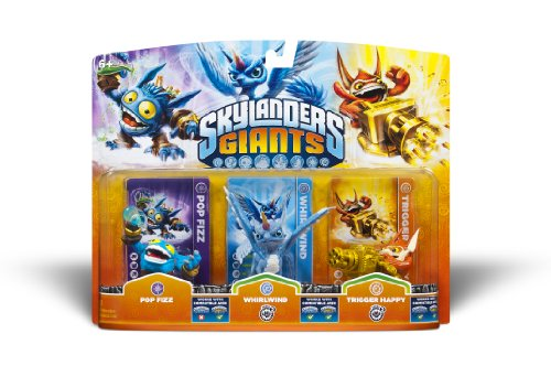 Activision Skylanders Giants Triple Pack #1: Pop Fizz, Whirlwind, Trigger Happy from Activision