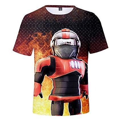 WQWQ Camiseta de Hombre Roblox, Manga Corta con Estampado 3D de Moda, Camisa Delgada Sandbox Game 100% poliéster XL XXL