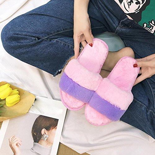 Scarpe Piatte Da Donna Di Cristallo Tenew Pantofole Morbide Antiscivolo (6,5, Rosa) Rosa