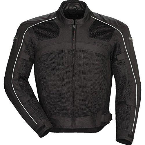 Tour Master Draft Air Series 3 Men's Textile Sports Bike Racing Motorcycle Jacket - Black/Black / Medium by Tourmaster