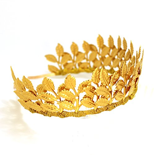 Greek Goddess Accessories Gold Leaf Branch Headbands Medieval Headpiece – Roman Costume Crown Bridal Wedding Headband (Goddess Crown)