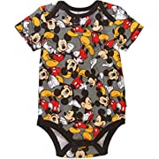 Assorted Disney Mickey Mouse Baby Boys Bodysuit Dress-Up Outfit (6-9 Months, Grey)