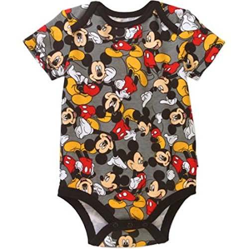 Disney Assorted Mickey Mouse Baby Boys Bodysuit Dress-Up Outfit (0-3 Months, -