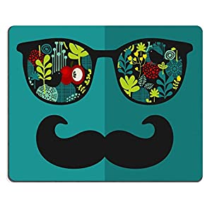MSD Natural Rubber Mousepad IMAGE ID: 27886526 Retro sunglasses with reflection for hipster Vector illustration of accessory glasses isolated Best print for eyeglasses advertisement