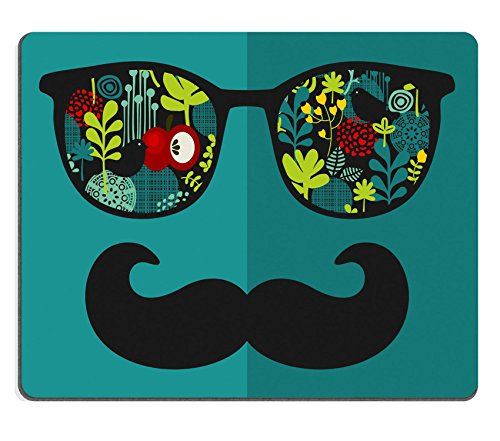 MSD Natural Rubber Mousepad IMAGE ID: 27886526 Retro sunglasses with reflection for hipster Vector illustration of accessory glasses isolated Best print for eyeglasses - Sunglasses Gentleman