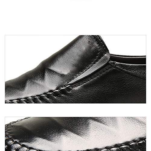 Uomo Abito Nuovi Pelle Pelle Scarpe In Casual black In Da Scarpe Business Traspiranti Strato Pelle Primo YXLONG Uomo In Autunno Da Scarpe ZwOxqC