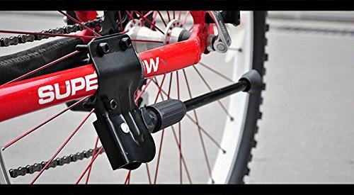 KORADA Bike Kickstand Bike Stand For Mountain Bike and Road Bike - Bicycle Accessories For City Bike Kids Bike Sports Bike Adult Bike - Adjustable Length Fits Most - Black