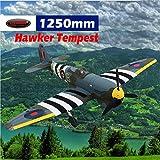 DYNAM RC Airplane Hawker Tempest 1250mm Wingspan