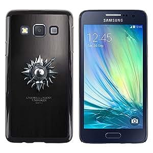 // PHONE CASE GIFT // Duro Estuche protector PC Cáscara Plástico Carcasa Funda Hard Protective Case for Samsung Galaxy A3 / Unbowed sin doblar Unbroken Martell /