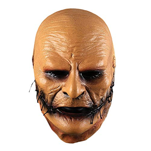 Corey Taylor Cosplay Face Mask Yellow Latex Costume Props Adult Unisex Halloween