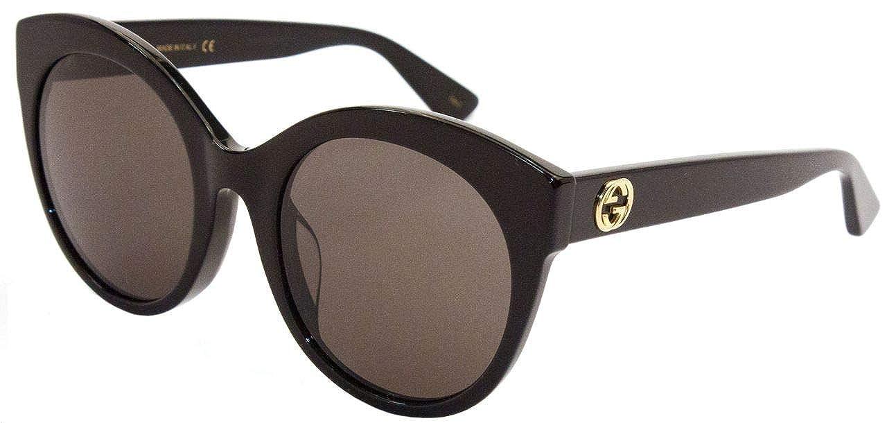 0d7500bb97d Amazon.com  Gucci sunglasses GG0028SA 001 Black Black Grey 54MM  Clothing