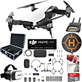 DJI Mavic Air Fly More Combo (Arctic White) Drone Combo 4K Wi-Fi Quadcopter with Remote ControllerPro Photo Edit Bundle With Case VR Goggles Landing Pad 32GB Memory Card 16GB Drive And Corel Pro X9