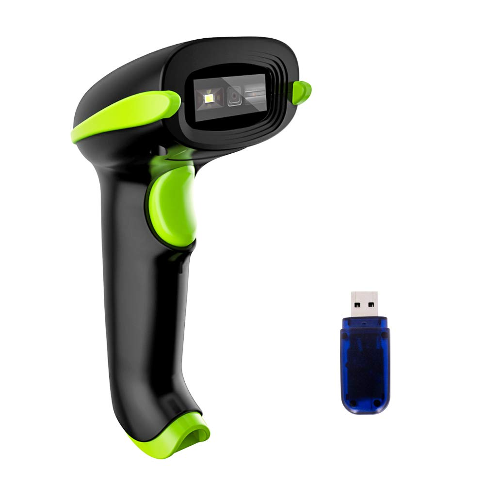 NADAMOO Wireless 2D Barcode Scanner, 3 in 1 Compatible with Bluetooth Function & 2.4GHz Wireless & Wired Connection, Connect Smart Phone, Tablet, PC, USB Image Bar Code Reader For QR PDF417 Datamatrix