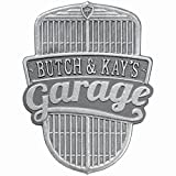 Customized - Car Grille Garage Plaque 1 Line