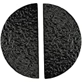"""Adonai Hardware """"Zoheleth"""" Black Cast Iron Half Moon Cabinet and Drawer Cup Pull, 3 Inch Center to Center - Matte Black Powde"""