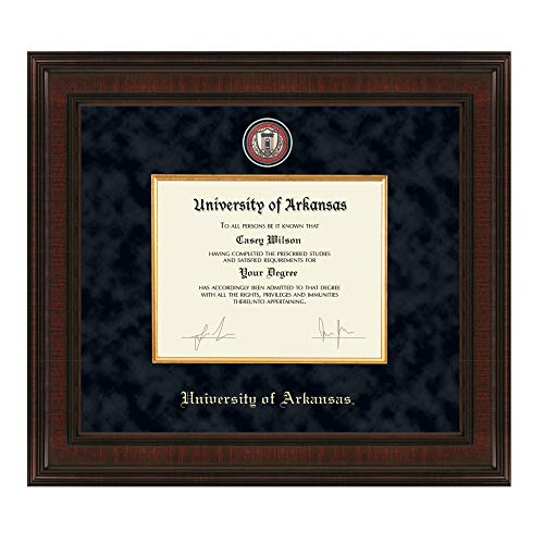 (M. LA HART University of Arkansas PhD Diploma Frame - Excelsior)